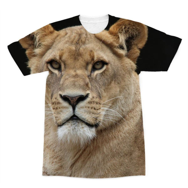 Big Lion Cat Looking Sublimation T-Shirt Xs Apparel