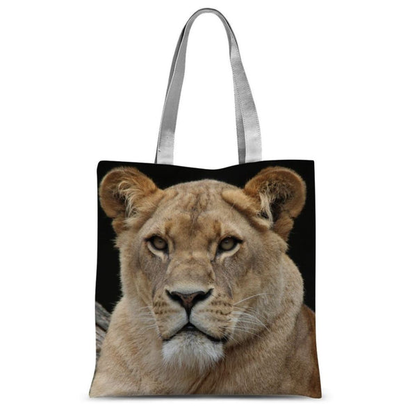 Big Lion Cat Looking Sublimation Tote Bag 15X16.5 Accessories