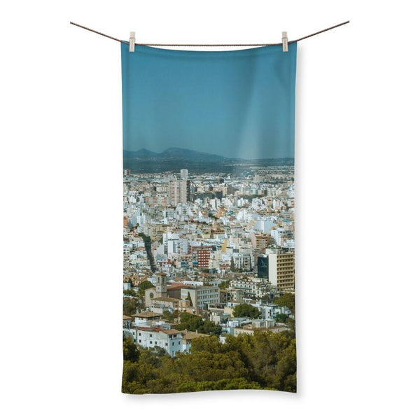 Birdseye View Of Urban Area Beach Towel 19.7X39.4 Homeware