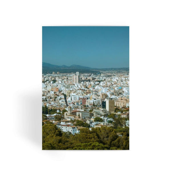 Birdseye View Of Urban Area Greeting Card 1 Prints