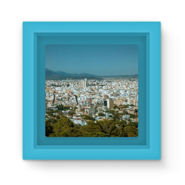 Birdseye View Of Urban Area Magnet Frame Light Blue Homeware