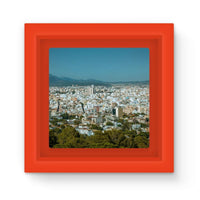 Birdseye View Of Urban Area Magnet Frame Red Homeware