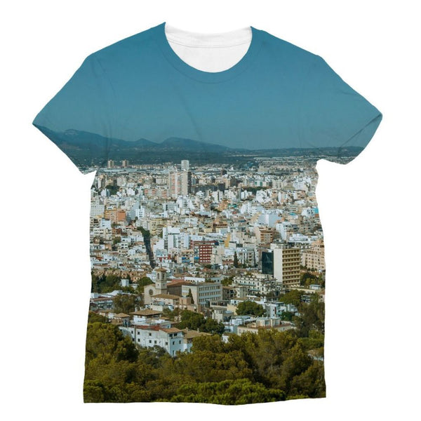 Birdseye View Of Urban Area Sublimation T-Shirt S Apparel