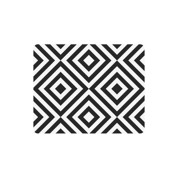 Black And White Geometric Pattern Rectangle Mousepad