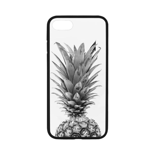 Black And White Pineapple Iphone 7 4.7 Case Rubber