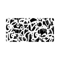 Black And White Urban Graffiti Street Style Classic License Plate