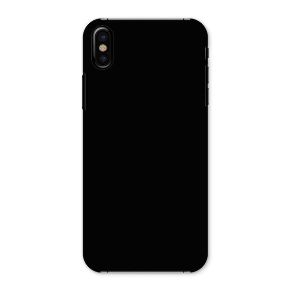 Black Color Phone Case Iphone X / Snap Gloss & Tablet Cases