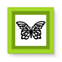 Black Swirl Butterfly Magnet Frame Green Homeware