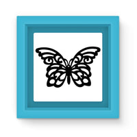 Black Swirl Butterfly Magnet Frame Light Blue Homeware