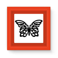 Black Swirl Butterfly Magnet Frame Red Homeware