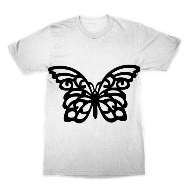 Black Swirl Butterfly Sublimation T-Shirt Xs Apparel