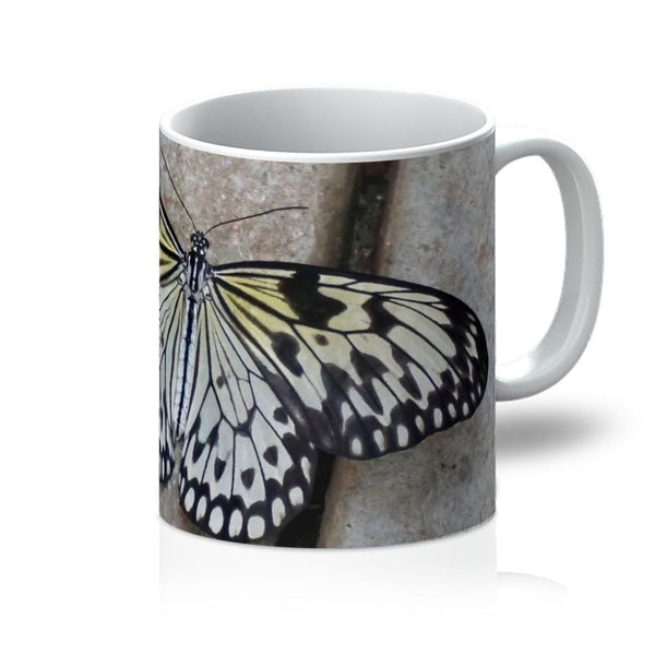 Black White Butterfly Mug 11Oz Homeware
