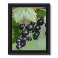 Blackcurrants Pattern Framed Eco-Canvas 11X14 Wall Decor