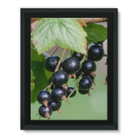 Blackcurrants Pattern Framed Eco-Canvas 18X24 Wall Decor