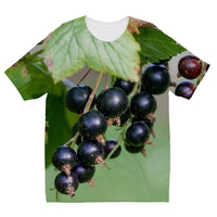 Blackcurrants Pattern Kids Sublimation T-Shirt 3-4 Years Apparel