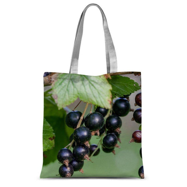 Blackcurrants Pattern Sublimation Tote Bag 15X16.5 Accessories
