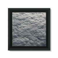 Blanket Of Fluffy Clouds Framed Eco-Canvas 10X10 Wall Decor