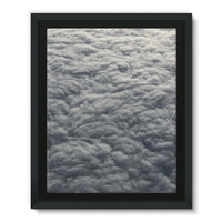 Blanket Of Fluffy Clouds Framed Eco-Canvas 11X14 Wall Decor