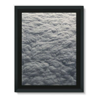 Blanket Of Fluffy Clouds Framed Eco-Canvas 18X24 Wall Decor