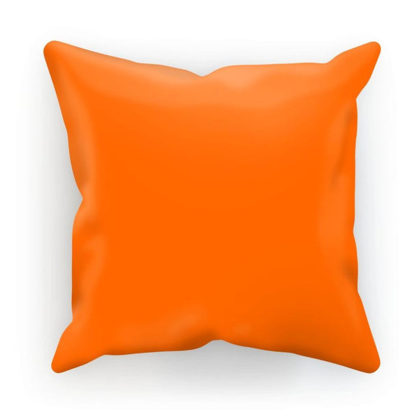 Blaze Orange Color Cushion Linen / 12X12 Homeware