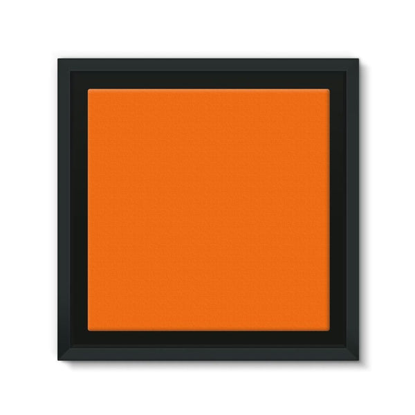 Blaze Orange Color Framed Canvas 12X12 Wall Decor