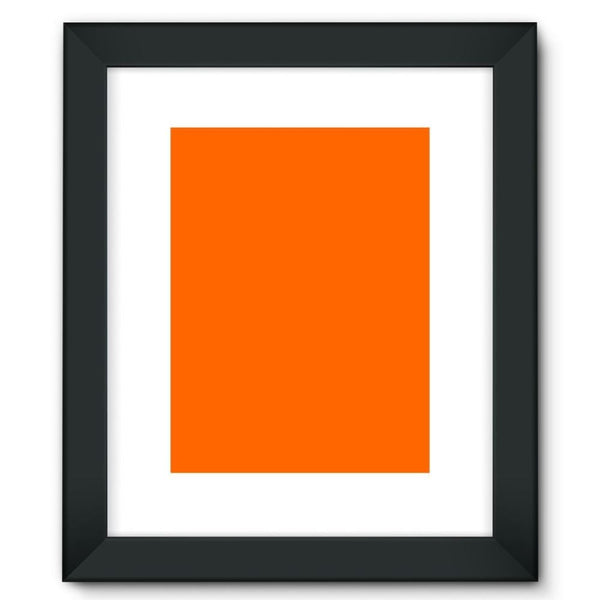 Blaze Orange Color Framed Fine Art Print 12X16 / Black Wall Decor