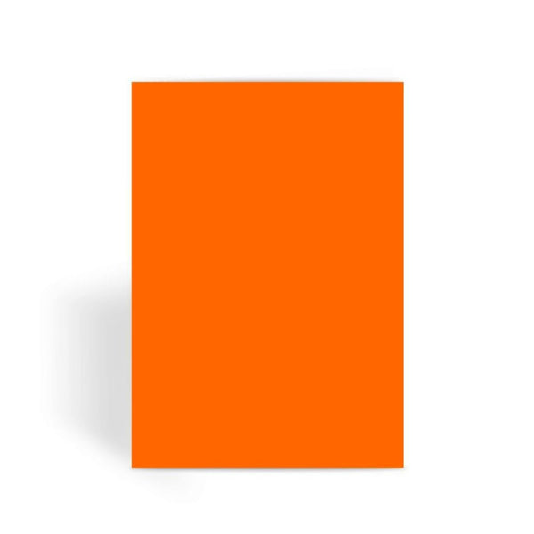 Blaze Orange Color Greeting Card 1 Prints