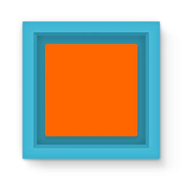 Blaze Orange Color Magnet Frame Light Blue Homeware