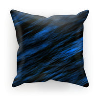 Blue Abstract Pattern Cushion Faux Suede / 18X18 Homeware