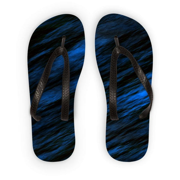 Blue Abstract Pattern Flip Flops S Accessories