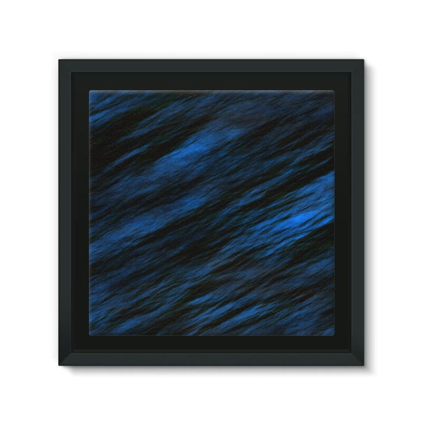 Blue Abstract Pattern Framed Canvas 12X12 Wall Decor