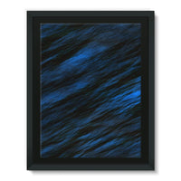 Blue Abstract Pattern Framed Canvas 12X16 Wall Decor
