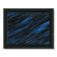 Blue Abstract Pattern Framed Canvas 16X12 Wall Decor