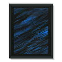 Blue Abstract Pattern Framed Canvas 24X32 Wall Decor