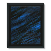 Blue Abstract Pattern Framed Eco-Canvas 11X14 Wall Decor