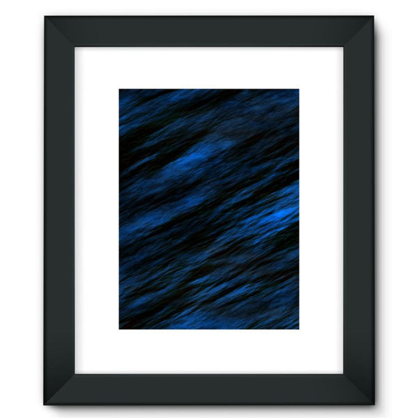 Blue Abstract Pattern Framed Fine Art Print 12X16 / Black Wall Decor