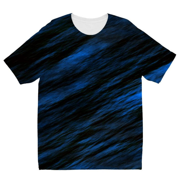 Blue Abstract Pattern Kids Sublimation T-Shirt 3-4 Years Apparel