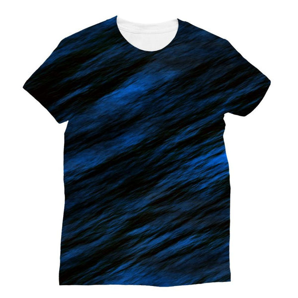 Blue Abstract Pattern Sublimation T-Shirt Xs Apparel