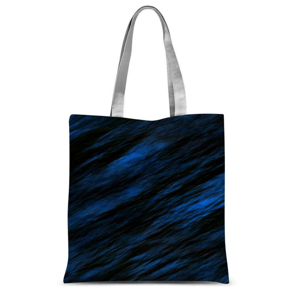Blue Abstract Pattern Sublimation Tote Bag 15X16.5 Accessories