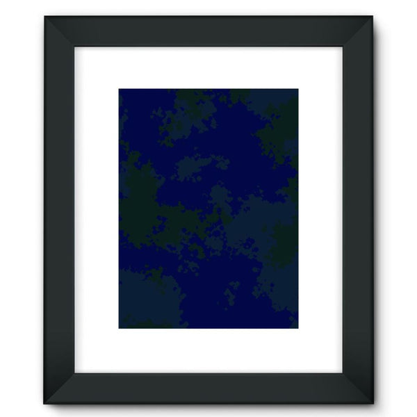 Blue Camouflage Pattern Framed Fine Art Print 12X16 / Black Wall Decor