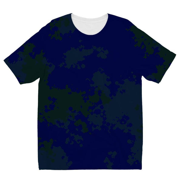 Blue Camouflage Pattern Kids Sublimation T-Shirt 3-4 Years Apparel