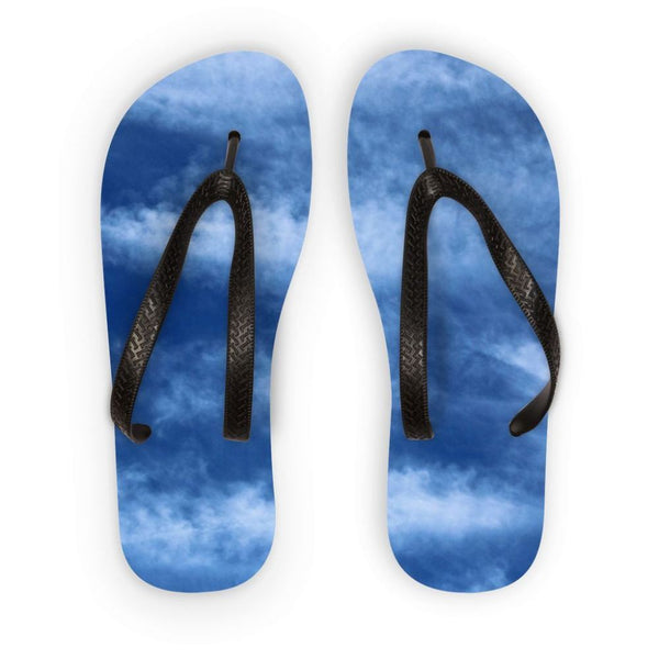 Blue Clouds Flip Flops S Accessories