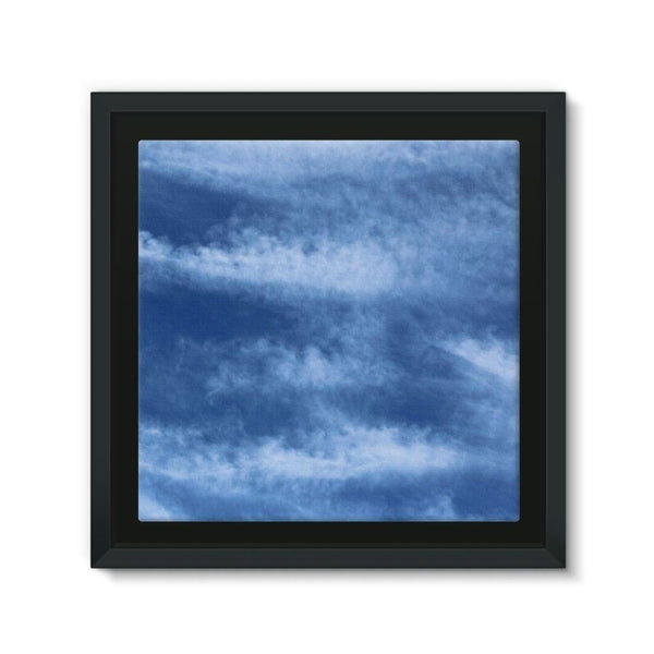 Blue Clouds Framed Canvas 12X12 Wall Decor