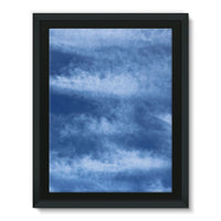 Blue Clouds Framed Canvas 12X16 Wall Decor