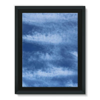 Blue Clouds Framed Canvas 24X32 Wall Decor