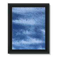 Blue Clouds Framed Eco-Canvas 11X14 Wall Decor