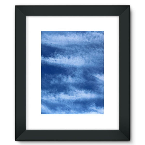 Blue Clouds Framed Fine Art Print 12X16 / Black Wall Decor
