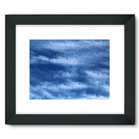Blue Clouds Framed Fine Art Print 16X12 / Black Wall Decor
