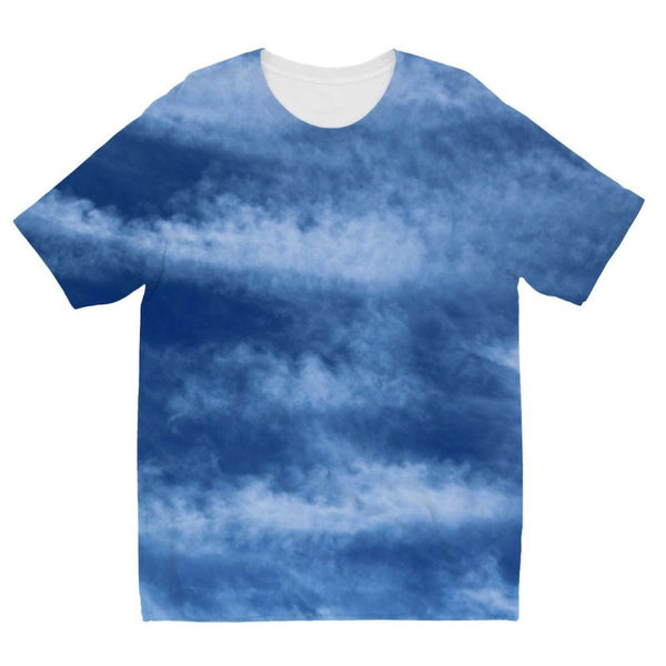 Blue Clouds Kids Sublimation T-Shirt 3-4 Years Apparel