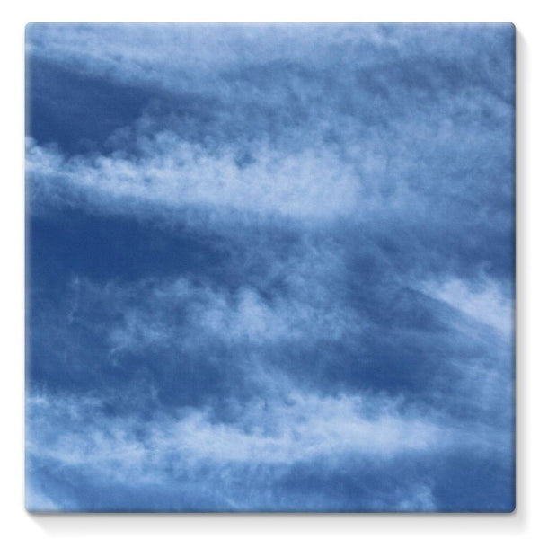Blue Clouds Stretched Canvas 10X10 Wall Decor